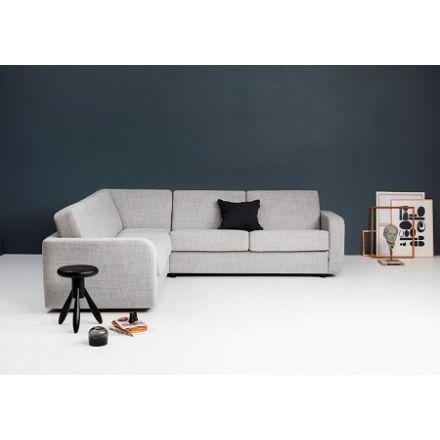 Hoekslaapbank / Slaapbank met longchair model Bed inside.